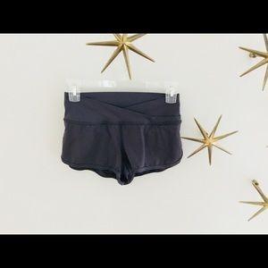 NWOT LuLu Lemon Black Four Way Stretch Shorts